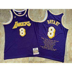 Los Angeles Lakers Kobe Bryant 8 Purple Jersey